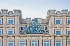 Adria Palace på Prague Arkivfoto