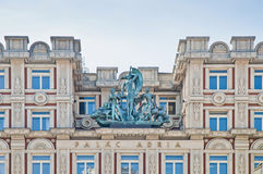 Adria Palace at Prague Stock Photo