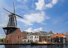 Adriaan-Windmühle, Haarlem Stockfotografie
