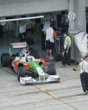 Adrian 2009 Sutil en el Malaysian F1 Prix magnífico Imágenes de archivo libres de regalías