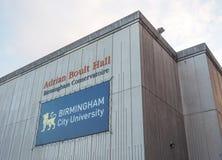 Adrian Boult Hall en el conservatorio de Birmingham en Birmingham Fotografía de archivo