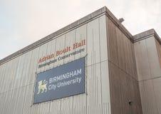 Adrian Boult Hall en el conservatorio de Birmingham en Birmingham Foto de archivo