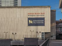 Adrian Boult Hall en el conservatorio de Birmingham en Birmingham Fotos de archivo libres de regalías