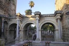 Adrian bramy stary grodzki Antalya Turcja Obraz Royalty Free