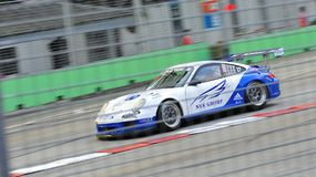 Adrian D'Silva racing at Porsche Carrera Cup Asia Stock Photos