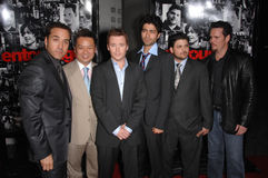 Adrian Grenier,Jeremy Piven,Jerry Ferrara,Kevin Connolly,Kevin Dillon,Rex Lee Royalty Free Stock Photography