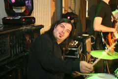 Adrian Ilie Tetrade. Is the drummer for the romanian band called Jukebox Royalty Free Stock Image