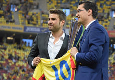 Adrian Mutu and Razvan Burleanu (Romania) Stock Images