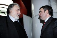 Adrian Paunescu y Hagi Imagen de archivo