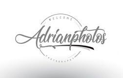 Adrian Personal Photography Logo Design avec le photographe Name illustration libre de droits