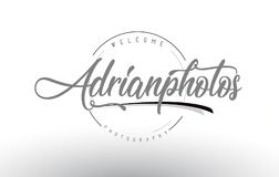 Adrian Personal Photography Logo Design With Photographer Name