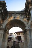 Adrian portar av den gamla staden Antalya Turkiet Arkivfoton