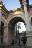Adrian portar av den gamla staden Antalya Turkiet Arkivfoto