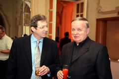 Adrian Streinu Cercel and Cristian Topescu. Adrian Streinu Cercel is a well known romanian medic and politician and Cristian Topescu Stock Images