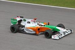 Adrian Sutil bij Maleise F1 Stock Foto