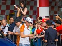 Adrian Sutil (de Kracht India van het team) Stock Fotografie
