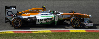 Adrian Sutil Force India Imagenes de archivo