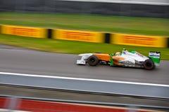Adrian Sutil racing at Montreal Grand prix Royalty Free Stock Images