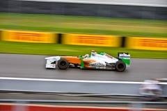 Adrian Sutil racing at Montreal Grand prix Royalty Free Stock Photo