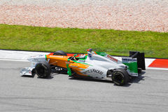 Adrian Sutil (Team Kraft Indien) Lizenzfreies Stockbild