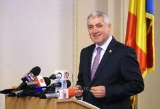 Adrian Tutuianu Senator do Partido Democratico Social - confe da imprensa fotos de stock