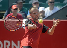 Adrian Ungur. ATP Tennis player Adrian Ungur pictured in action during the ATP 250 tournament BRD Nastase Tiriac Trophy doubles Final between Adrian Ungur/ Royalty Free Stock Photography