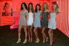 Adriana Лима, Alessandra Ambrosio, Candice Swanepoel, Erin Heatherton, Miranda Kerr, Miranda! , Секрет Виктории Стоковые Изображения