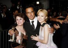 Adriana Barraza, Alejandro Gonzalez Inarritu und Rinko Kikuchi Lizenzfreie Stockfotografie