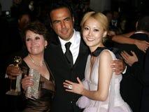 Adriana Barraza, Alejandro Gonzalez Inarritu y Rinko Kikuchi Fotografía de archivo libre de regalías