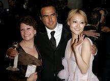 Adriana Barraza, Alejandro Gonzalez Inarritu y Rinko Kikuchi Foto de archivo