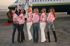 Victorias hemlighet, Selita Ebanks, Giselle, Adriana Lima, Alessandra Ambrosio, Bob Hope, Karolina Kurkova, Gisele, Gisele Bundche arkivbilder