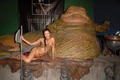 Adrianne Curry, Jabba, de Eigenschappen Stock Foto's