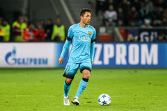 Adriano Correia during the UEFA Champions League game between Ba Royalty Free Stock Photos