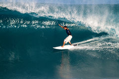 Adriano de Souza of Brazil Surfing at Off the Wall Royalty Free Stock Image