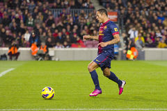 Adriano of FC Barcelona Royalty Free Stock Photos