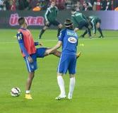 Adriano och Luiz Felipe Arkivbild
