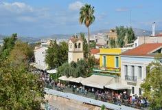 Adrianou-Straße in Athen Lizenzfreie Stockbilder
