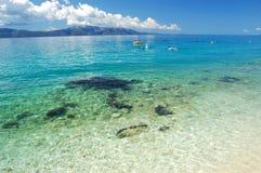 Picturesque scenic view of adriatic beach in brist Stock Photo