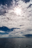 Adriatic cloudy seascape Stock Photo