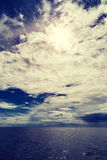 Adriatic cloudy seascape Royalty Free Stock Image
