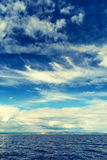 Adriatic cloudy seascape Royalty Free Stock Photo