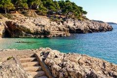 Adriatic coast. The sunny day at Adriatic coast, Croatia Royalty Free Stock Image