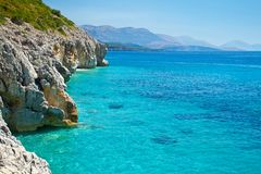 Adriatic coast with a clear blue sea Stock Photo
