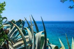 Adriatic coast of Croatia. Seascape of Adriatic coastal of Croatia royalty free stock photos