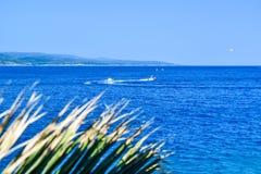 Adriatic coast of Croatia. Seascape of Adriatic coastal of Croatia royalty free stock photography
