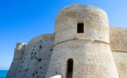 The Adriatic coast. Italy, Ortona, the Aragonese fortress Stock Photography