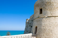 The Adriatic coast. Italy, Ortona, the Aragonese fortress Stock Images