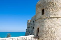 The Adriatic coast. Italy, Ortona, the Aragonese fortress Stock Images
