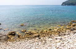 Adriatic Coast in old Budva, Montenegro Royalty Free Stock Images