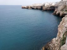 Adriatic coast. Polignano a Mare. Bari, South Italy. A summer day in July Stock Photography